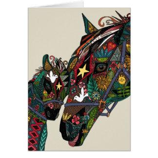 amor del caballo tarjeta de felicitación
