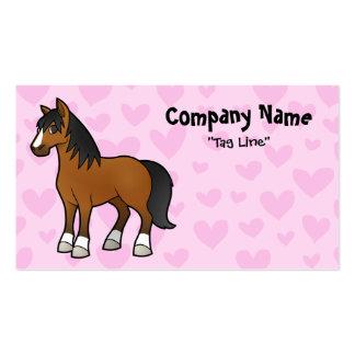 Amor del caballo tarjetas de visita
