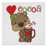 Amor del cacao del oso del chica impresiones