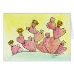 Amor del cactus felicitacion