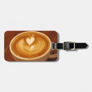 Amor del café etiquetas para equipaje