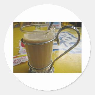 Amor del café pegatina redonda