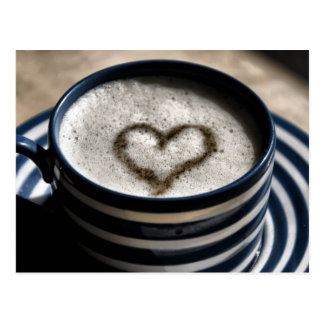 Amor del café tarjeta postal