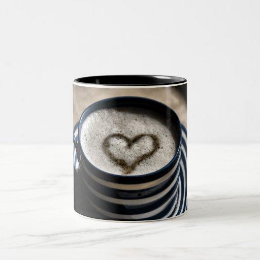 Amor del café taza dos tonos
