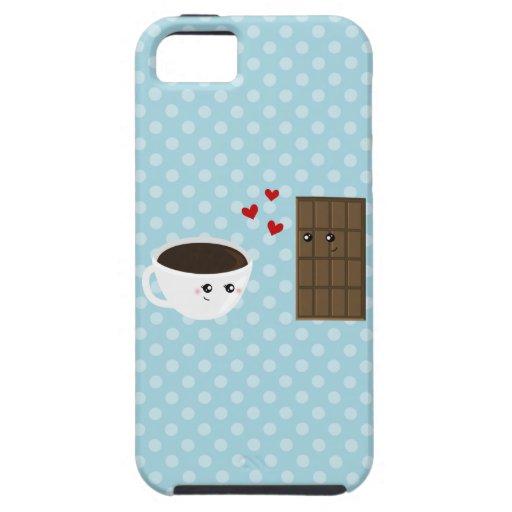 Amor del café y del chocolate iPhone 5 Case-Mate protector