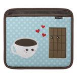 Amor del café y del chocolate funda para iPads
