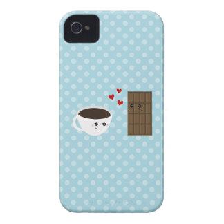 Amor del café y del chocolate iPhone 4 protector