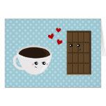 Amor del café y del chocolate tarjeta