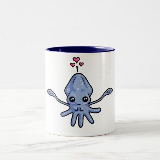 Amor del calamar (en una taza)