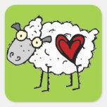 Amor del campesino sureño - amor de las ovejas calcomanía cuadradas