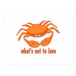 Amor del cangrejo tarjetas postales