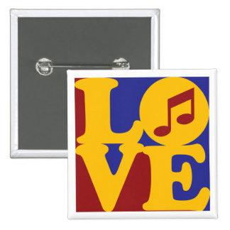 Amor del canto pin cuadrado