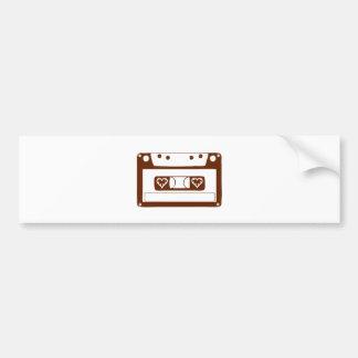 Amor del casete etiqueta de parachoque