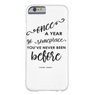 amor del caso del iPhone a viajar cita inspirada Funda De iPhone 6 Barely There