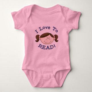 Amor del chica I para leer las camisetas y los