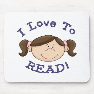 Amor del chica I para leer las camisetas y los reg Alfombrilla De Raton