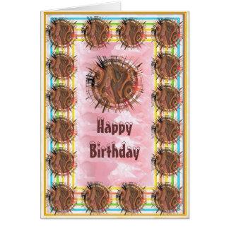 Amor del chocolate - feliz cumpleaños tarjeta pequeña