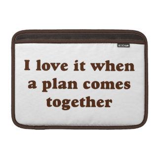Amor del chocolate I él Funda MacBook