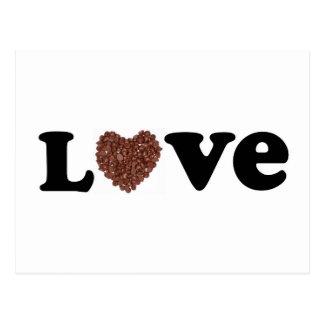 amor del chocolate tarjetas postales