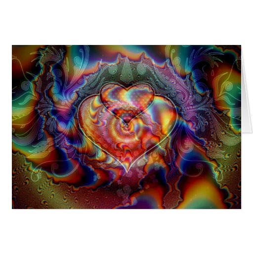 Amor del cielo tarjeta de felicitación