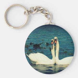 Amor del cisne llavero redondo tipo pin