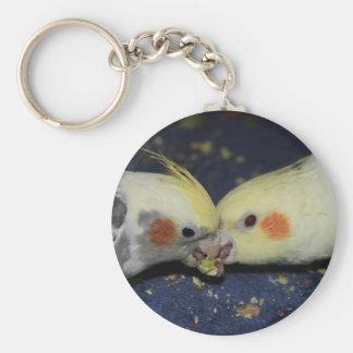 Amor del Cockatiel Llavero Redondo Tipo Pin