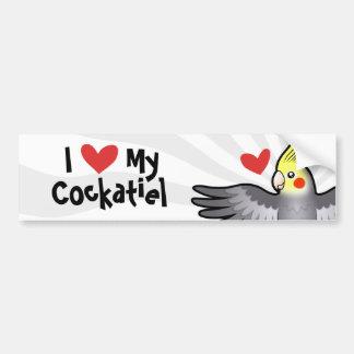 Amor del Cockatiel Pegatina Para Auto