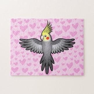 Amor del Cockatiel Rompecabezas Con Fotos