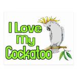 Amor del Cockatoo Postales