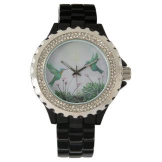Amor del colibrí reloj de mano