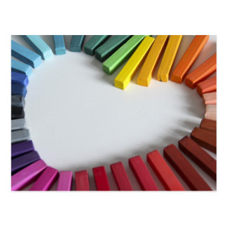 Amor del color postal