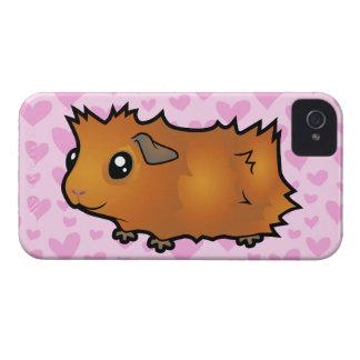 Amor del conejillo de Indias (desaliñado) Case-Mate iPhone 4 Coberturas
