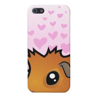Amor del conejillo de Indias (desaliñado) iPhone 5 Cárcasas