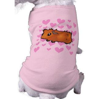 Amor del conejillo de Indias (desaliñado) Playera Sin Mangas Para Perro