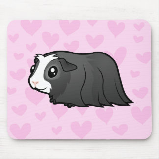 Amor del conejillo de Indias (pelo largo) Mouse Pads