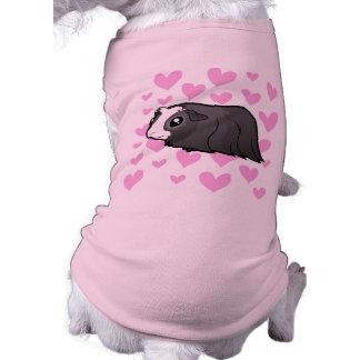 Amor del conejillo de Indias (pelo largo) Playera Sin Mangas Para Perro