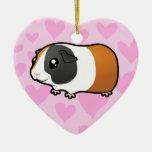 Amor del conejillo de Indias (pelo liso) Ornaments Para Arbol De Navidad