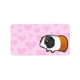 Amor del conejillo de Indias pelo liso Etiquetas De Dirección