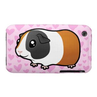 Amor del conejillo de Indias (pelo liso) iPhone 3 Fundas