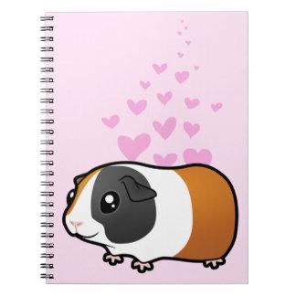 Amor del conejillo de Indias (pelo liso) Libreta Espiral