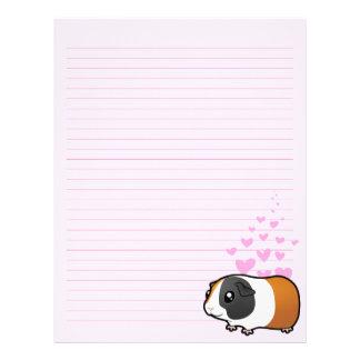 Amor del conejillo de Indias (pelo liso) Membrete Personalizado