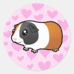 Amor del conejillo de Indias (pelo liso) Etiquetas Redondas