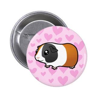 Amor del conejillo de Indias (pelo liso) Pin Redondo 5 Cm