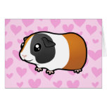 Amor del conejillo de Indias (pelo liso) Felicitaciones