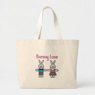 Amor del conejito bolsas de mano