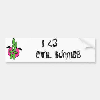 Amor del conejito etiqueta de parachoque