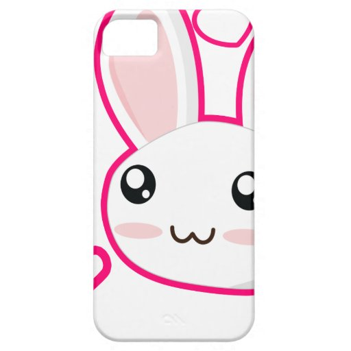 Amor del conejito - conejitos Chibi del conejo lin iPhone 5 Carcasas