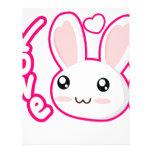 Amor del conejito - conejitos Chibi del conejo lin Membrete A Diseño