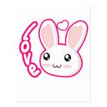 Amor del conejito - conejitos Chibi del conejo lin Tarjetas Postales