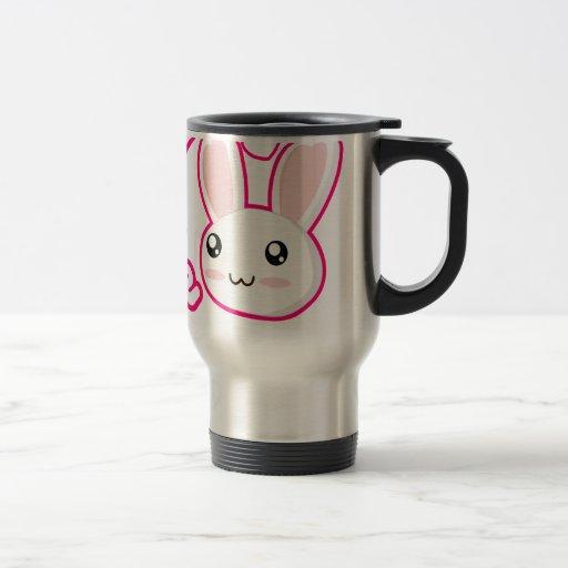 Amor del conejito - conejitos Chibi del conejo lin Taza De Café